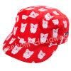 (LM14005) Microfiberのモモの刺繍の方法赤ん坊は軍隊の軍の帽子の帽子をからかう