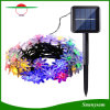 da lâmpada solar feericamente do diodo emissor de luz da flor dos lótus 30LEDs de 6m luzes impermeáveis ao ar livre da corda da potência solar do feriado do jardim do Natal da decoração
