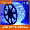 Luz de tira flexível ultra brilhante do diodo emissor de luz SMD5050 de AC220V-240V