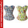 Las mujeres llevan a doble cara Impresión floral de la ropa interior atractiva del corsé