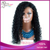 1b# Kinky Curly Virgin brasileño Human Hair Lace Front Wig