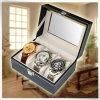 Caja de reloj Pocket de cuero de lujo suave respetuosa del medio ambiente