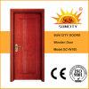 Porte peinte affleurante bon marché économique de forces de défense principale en bois solide de chêne (SC-W100)