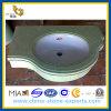 Countertop Vanitytop (YQG-MT1006)のためのエメラルドのJade Green Marble Tiles Slab