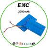 bloco da bateria recarregável da bateria do polímero do Li-íon 3.7V 605085 3200mAh