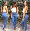 Верхняя часть кальсон женщин брюк джинсыов карандаша вскользь