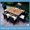 Rattanのテラスの庭Dining SetおよびPlastic WoodおよびCushion