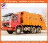 De achter Vrachtwagen van de Pers van het Huisvuil van de Lading HOWO met de Vrachtwagen van de Inzameling van het Afval