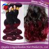 человеческие волосы 1b/99j Omber Remy Virgin бразильские Hair Two Tone Colors (HSTB-A814)