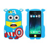 Superman 3D Cartoon Silicon Bumper Phone Cover/Caso para o iPhone 4/5/6g