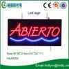 Signe chaud de lettre de la vente LED Abierto de forme de rectangle (HAS0005)