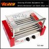 方法耐久のソーセージ機械、9つのローラーのガラス蓋、承認されるセリウムが付いている電気ホットドッグのグリル(WY-009)