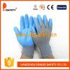 Серый нейлон с голубым нитрилом Glove-Dnn817