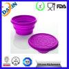 Tazón de fuente plegable modificado para requisitos particulares aprobado FDA&LFGB del perro del silicón
