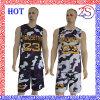 Modificar diseño de Camo para requisitos particulares de la sublimación de la alta calidad de los uniformes reversibles del baloncesto el nuevo para 2016