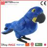 ASTM 살아있는 것 같은 채워진 Macaw 견면 벨벳 앵무새 연약한 새 장난감
