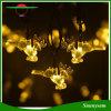 Waterproof 5m/6m luzes feericamente pstas solares de 20/30 de corda da forma dos cervos do diodo emissor de luz para a decoração ao ar livre do jardim da festa de Natal do Xmas do casamento