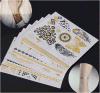Etiquetas engomadas temporales impermeables del tatuaje de la carrocería metálica de moda del metal