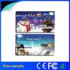 Vara feita sob encomenda 4GB da memória Flash da forma do cartão do presente do Feliz Natal