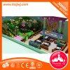 Jogo interno do campo de jogos do projeto do tema da selva, material de LLDPE para miúdos