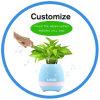 Bac de fleur de musique de chant Flowerpot en plastique de DEL avec le haut-parleur de Bluetooth