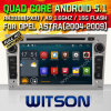 Carro DVD do Android 5.1 de Witson para Opel Vectra (2005-2008) com retrato da pia batismal DVR do Internet da ROM WiFi 3G de Rockchip 3188 1080P 16g do núcleo do quadrilátero (W2-F9828L)