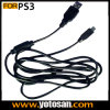 Mini 5 pinos USB Charge Cable para Sony Playstation 3 PS3 Game Acessórios