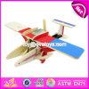Los nuevos cabritos del diseño ensamblan los juguetes creativos de madera W03b069 del aeroplano del rompecabezas