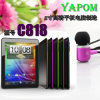 Yapom Novo 8 polegadas Tablet PC C818 Android 4.1 Quad-Core com saída HDMI 8GB Capacitive HD Screen 3G Extenal