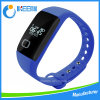 Wristband astuto di forma fisica del silicone con l'inseguitore di salute del video di frequenza cardiaca