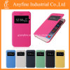 Neues Flip Leather View Window Skin Cell Fall Cover für Samsung Galaxy S6