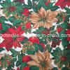 Ouro Printed Cotton Fabric com Golden Color, Specially para Christmas Day