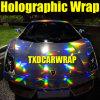 Стикер 1.49*20m/Roll лазера Holographic Vinyl Chrome украшения