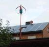 400W Vertical Wint Turbine Generator met Zonnepaneel System