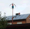 400W Vertical Wint Turbine Generator com Solar Panel System