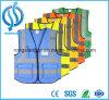 Chaleco reflexivo modificado para requisitos particulares impresión de la seguridad de la insignia de la alta calidad