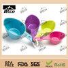 Colher plástica barata colorida moda do produto comestível
