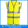 Het in het groot Weerspiegelende Gele Vest van het Vest van de Mens van de Slijtage van de Veiligheid van de Bouw