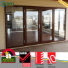 Woodcolor Double Glazed PVC/UPVC Door와 Window Ropo19870