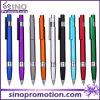 Stylo de boule en plastique disponible d'Asvertising de stylo de boule de clic de 9 couleurs
