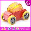 Carro de madeira para miúdos, brinquedo W04A180d do brinquedo da venda quente mini do carro da alta qualidade de madeira colorida mini