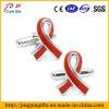 Bouton de manchette rouge en métal de clip de relation étroite pour le vêtement