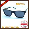 Polarisierte Sonnenbrillen mit dunklem hölzernem Material (FX15075)