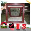 Finestra standard australiana della stoffa per tendine della venatura del legno UPVC con doppio vetro