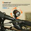 luz recargable de la bicicleta 350lm/luz de la bici con la función girada 360