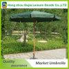 Guarda-chuva ao ar livre de madeira de luxe por atacado do pátio da praia