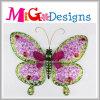 Изумительный декор стены бабочки пинка металла на весна