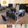 Tabella di vendita calda contemporanea dell'ufficio con cuoio (AT023A)