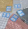 Pano bonito de lantejoulas de metal, lantejoulas de tecido para decoração variada