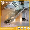Escaleras de acero de U de la escalera recta de interior de la dimensión de una variable con la escalera estándar australiana de la barandilla de cristal